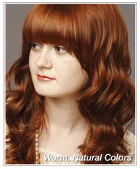 Warm natural red hair color